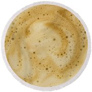 Round Beach Towel featuring the photograph Abstract Coffee by Brian Roscorla