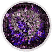 Abstract Cherry Blossom Round Beach Towel