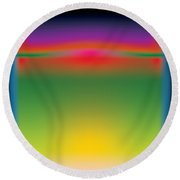 Abstract Color  Round Beach Towel