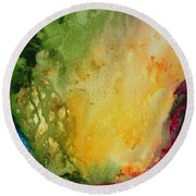 Abstract Color Splash Round Beach Towel