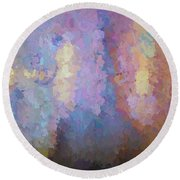 Abstract Columns Round Beach Towel