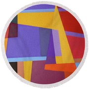 Abstract Composition 7 Round Beach Towel