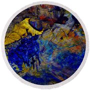 Abstract Composition Round Beach Towel by Michal Boubin