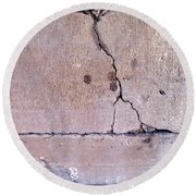 Abstract Concrete 3 Round Beach Towel