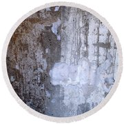 Abstract Concrete 8 Round Beach Towel