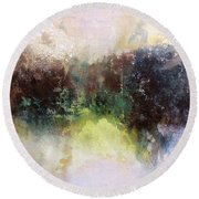 Abstract Contemporary Art Round Beach Towel by Patricia Lintner