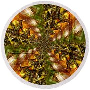 Abstract Cornfield 1 Round Beach Towel