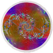 Round Beach Towel featuring the digital art Abstract Cubed 351 by Tim Allen