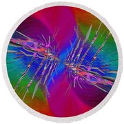 Round Beach Towel featuring the digital art Abstract Cubed 353 by Tim Allen