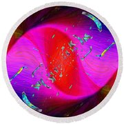 Round Beach Towel featuring the digital art Abstract Cubed 354 by Tim Allen