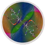 Round Beach Towel featuring the digital art Abstract Cubed 356 by Tim Allen