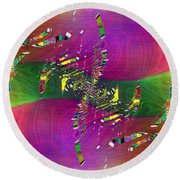 Round Beach Towel featuring the digital art Abstract Cubed 357 by Tim Allen