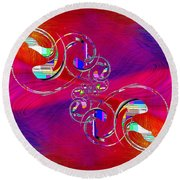 Round Beach Towel featuring the digital art Abstract Cubed 360 by Tim Allen