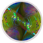 Round Beach Towel featuring the digital art Abstract Cubed 361 by Tim Allen