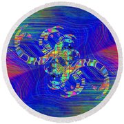 Round Beach Towel featuring the digital art Abstract Cubed 362 by Tim Allen