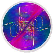 Round Beach Towel featuring the digital art Abstract Cubed 363 by Tim Allen