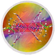 Round Beach Towel featuring the digital art Abstract Cubed 364 by Tim Allen