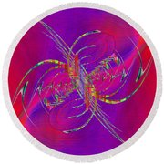 Round Beach Towel featuring the digital art Abstract Cubed 365 by Tim Allen