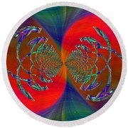 Round Beach Towel featuring the digital art Abstract Cubed 366 by Tim Allen