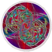 Round Beach Towel featuring the digital art Abstract Cubed 367 by Tim Allen