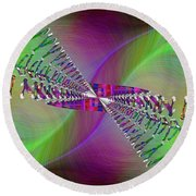 Round Beach Towel featuring the digital art Abstract Cubed 370 by Tim Allen