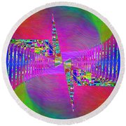 Round Beach Towel featuring the digital art Abstract Cubed 373 by Tim Allen