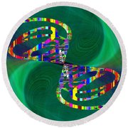 Abstract Cubed 374 Round Beach Towel