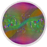 Round Beach Towel featuring the digital art Abstract Cubed 376 by Tim Allen