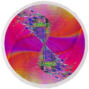 Round Beach Towel featuring the digital art Abstract Cubed 377 by Tim Allen