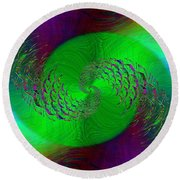 Abstract Cubed 378 Round Beach Towel