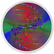 Round Beach Towel featuring the digital art Abstract Cubed 384 by Tim Allen
