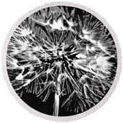 Abstract Dandelion Round Beach Towel
