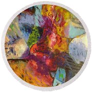 Abstract Depths Round Beach Towel