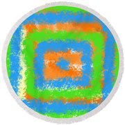 Abstract Drama Round Beach Towel