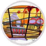 Abstract Drawing Sixty-seven Round Beach Towel