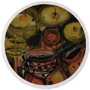 Abstract Drums Round Beach Towel