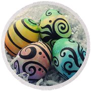 Abstract Easter II Round Beach Towel