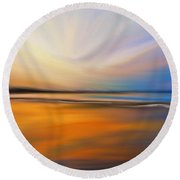 Abstract Energy Round Beach Towel