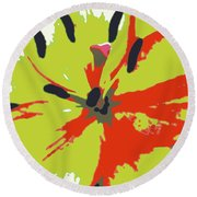 Abstract Expression 218 Round Beach Towel