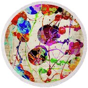 Abstract Expressionism 2 Round Beach Towel