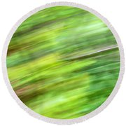 Round Beach Towel featuring the photograph Abstract Expressionism Field 1 by Marilyn Hunt