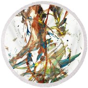 Round Beach Towel featuring the painting Abstract Expressionism Painting Series 1039.050812 by Kris Haas