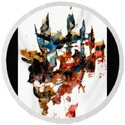 Abstract Expressionism Painting Series 750.102910 Round Beach Towel