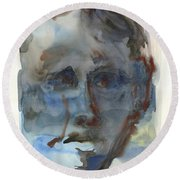 Abstract Face Round Beach Towel