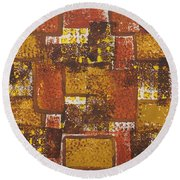 Abstract_ Fall  Round Beach Towel