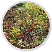 Abstract Fall Thicket Round Beach Towel