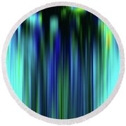 Round Beach Towel featuring the digital art Abstract Fibers by Zaira Dzhaubaeva
