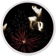 Abstract Fireworks IIi Round Beach Towel