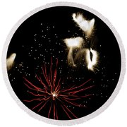Abstract Fireworks IIi Round Beach Towel