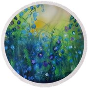 Abstract Flax           31 Round Beach Towel